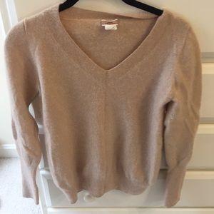 J. Crew 100% cashmere tan sweater